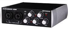 New Presonus Black Audiobox 2x2 USB Recording System Interface Home Studio DJ