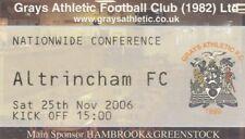 Ticket - Grays Athletic v Altrincham 25.11.06