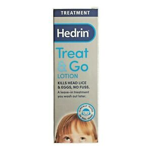 HEDRIN TREAT & GO LOTION HEAD LICE NITS EGGS REPELLENT LEAVE-IN KIDS ADULTS 50ml