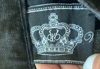 Victoria Beckham Rock & Republic White Crowns Black Jeans Denim Sz 27