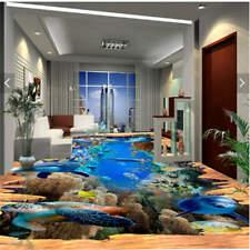 Turtle Rush Water 3D Floor Mural Photo Flooring Wallpaper Home Print Decoration