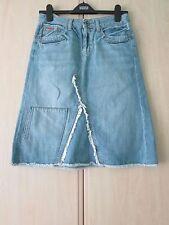 Knee Length Denim Patternless Petite Skirts for Women