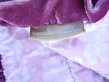 Cocalo Couture Plumeria baby comforter silky satin pink plum colors floral