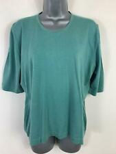 """WOMENS JAEGER GREEN CASUAL SHORT SLEEVE CREW NECK JUMPER TOP FIT SIZE CHEST 40"""""""