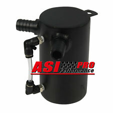 "0.5L 19mm 3/4"" BARB ALUMINIUM OIL CATCH CAN BREATHER TANK RESERVOIR BLACK AUS"