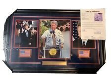Bill Clinton Autograph Signed  President 11x14 Photo Collage Framed JSA LOA