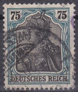 Germany Deutsches Reich 1919 Mi. Nr. 104b 75 Pf. Germania Definitive USED INFLA