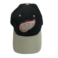 Detroit Red Wings Hockey NHL PUMA Strap Back Hat Black Gray Red Embroidered Logo