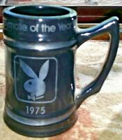Vintage 1975 Playboy Black Bar Ware/Beer Mug Playboy/Playmate Of The Year