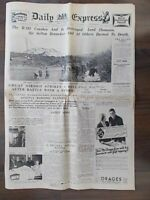 VINTAGE NEWSPAPER DAILY EXPRESS OCTOBER 6th 1930 R101 AIRSHIP DISASTER