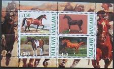 Malawi 2010 M/S Horse Horses Nature Wild Animals Farm Mammals Fauna Stamps MNH