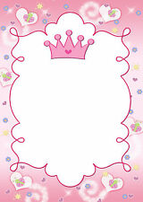 30 Princess Blank Cards For Invitation Thank You Note Girl Birthday Butterfly A1