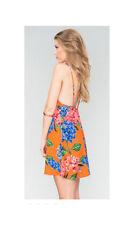 Show Me Your MuMu Ladies Criss Cross Applesauce Bahama Bloom Mini Flower Dress-L