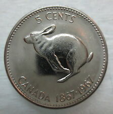 1967 CANADA 5¢ BRILLIANT UNCIRCULATED NICKEL