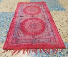 AUTHENTIC VINTAGE TAPESTRY ISLAMIC CARPET PRAYER RUG MIDDLE EASTERN 1970S 70S