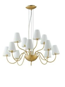 Modern Chandelier Gold With Glass Fa I-Canto /12