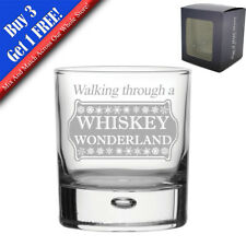 Engraved Novelty Christmas Whiskey Glass, Various Designs, Christmas Gifts, Gift