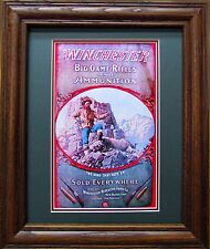 Winchester advertising poster reproduction Winchester Repeating Arms Co. Framed