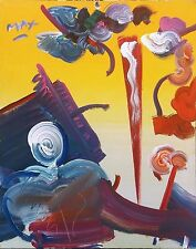 """PETER MAX """"SAGE (ABSTRACT)"""" 1989 