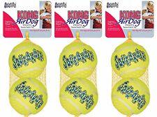 6 x Large Air Kong Tennis Balls Ball Dog Toy Dental Friendly Strong bigger