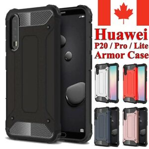 For Huawei P20 / Pro Lite Case - Dual Layer Hybrid Shockproof Hard Armor Cover