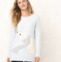Lauren Conrad Ugly Christmas Sweater Size XL Polar Bear