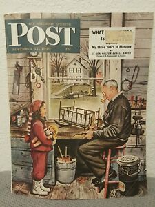 1949 NOVEMBER 12 THE SATURDAY EVENING POST MAGAZINE - ILLUSTRATED COVER