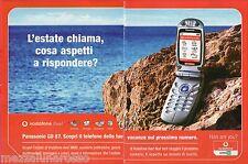 Pubblicità Advertising 2003 Vodafone Omnitel Panasonic GD 87 (2)