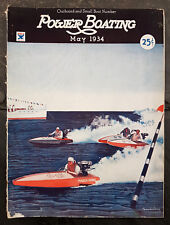 May 1934 Power Boating Magazine w/Dickey Cover Outboard Small Boat Number/Issue