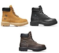Timberland PRO Direct Attach 6 Inch Steel Toe Wheat or Black Leather Work Boots