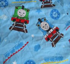Thomas & Friends Twin Size Bed Sheet Flat Fabric Train Tank Engine Railroad