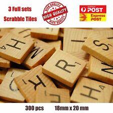 300 x wooden Scrabble Tiles letters - Magnets / Pendants / Craft 3 Complete Set