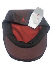 MICHAEL AIR JORDAN GATSBY VINTAGE 1990's ORIGINAL HAT CAP BERET BLACK RED NIKE M