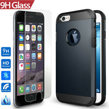 Yellow-Price iPhone 6 Case, [CUSHION] [Tempered Glass Protection]Hybrid Skin