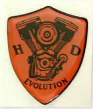 Harley Davidson ® Evolution 3d doming decal 2 unidades pegatinas