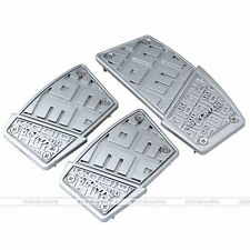 Silver Manual Transmission Car Foot Pedal Pad Cover For Brake Clutch Accelerator