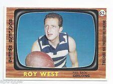 1967 Scanlens # 62 Roy WEST Geelong Mint.