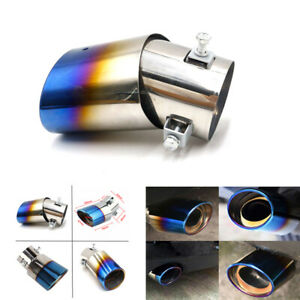 Car Exhaust Pipe Tip Tail Muffler Stainless Steel Replacement Accessories 6.3CM