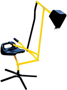 OutdoorActive Metall Schaufelbagger gelb schwarz Kinderbagger Sandbagger drehbar