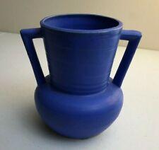 """Scarce Buttress Style MATTE Vivid BLUE Vase JAPAN Art Pottery Unique 5.75"""" Tall"""