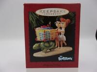 Hallmark Betty and Wilma Christmas Ornament Flintstones Shopping Spree 1995 NM