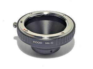 C Mount to Nikon F Lens Adapter