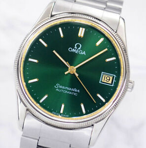 OMEGA SEAMASTER AUTOMATIC CAL1110 DATE GREEN DIAL MEN'S WATCH