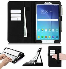 Samsung Galaxy Tab E 8.0 Case, FYY Strap Card slot Magnetic Premium PU Leather