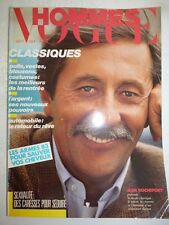 Magazine revue mode fashion VOGUE HOMMES #62 septembre 1983 Jean Rochefort
