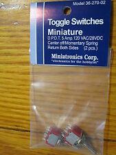 Miniatronics Corp. #36-270-02 Miniature Toggle Switches 2 pcs