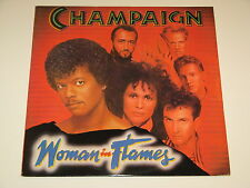 CHAMPAIGN woman in flames Lp RECORD DISCO BOOGIE FUNK SOUL 1984