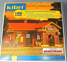 Railway Station Stuttgart Tube incl. 1XLED Interior Lighting NIP H0 Kibri 49494