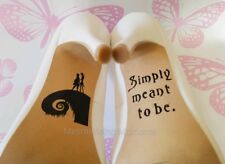 Nightmare Before Christmas Shoe Decal Sticker Jack and Sally Tim Burton Disney