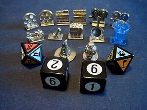 Board Game Token Pieces 2002/2005 - Scene it? markers incl. Harry Potter + dice